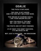 """Framed Ice Hockey Goalie Helmet 8"""" x 10"""" Sport Poster Print"""
