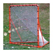 EZ Goal Official Regulation Folding Metal Lacrosse Goal with Throwback Kit - 1.8m x 1.8m