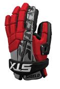 STX Lacrosse Shield Goalie Glove, Red, 30cm