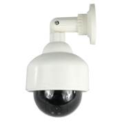Masione Exterior and Fake/Dummy Fake Security CCTV Surveillance Camera with Flashing Red LED Outdoor Dome Wall Style 180 Degree Rotation