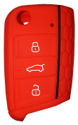 VW GOLF 7 Key Cover for VW Golf 7 Key Cover Red