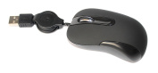 Zaidtek HM5079 USB Retractable Cable Mini Optical Mouse or Portable Travel Mouse For PC Laptop ---black