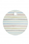 "KitchenCraft 'Classic Stripe' Toughened Glass Worktop Saver, 24 cm (9.5"") - Round"