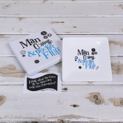 The Bright Side - Man Coinage And Pocket Fluff Coin Tray (New Design) by Bright Side