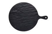 "KitchenCraft ""We Love Summer"" Round Melamine Slate-Effect Food Serving Platter, 41.5 x 31.5 cm"