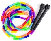 K-Roo Sports Rainbow 2.1m Jump Rope with Plastic Beaded Segmentation