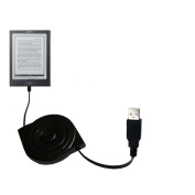 USB Power Port Ready retractable USB charge USB cable wired specifically for the Sony PRS-700BC Digital Reader and uses TipExchange