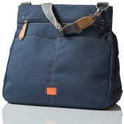 PacaPod Oban Denim Designer Baby Changing Bag - Luxury Blue Messenger 3 in 1 Organising System With Convertible BackPack Straps