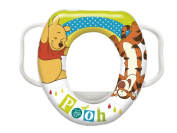 Disney Baby Winnie The Pooh Soft Padded Toilet Training Seat with Handles