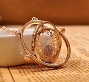 Harry Potter Time Turner Hourglass Pendant Necklace Hermione Granger Rotating Spins Gold Plated Lover's Jewellery