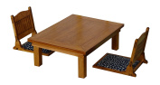Set of 1/12 seat table and seat chair