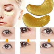 LnLyin 10 Pcs Moisturising Eye Patches Sheet Beauty Gold Crystal Collagen Eye Mask