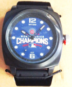 Chicago Cubs 2016 Champions World Series PROMPT Watch Colour Black Band Baseball …