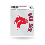 MLB Boston Red Sox Static Cling Decal, Small, Black