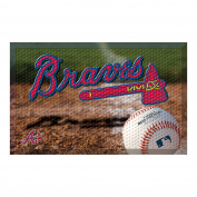 FANMATS 19006 Team Colour 48cm x 80cm Atlanta Braves Scraper Mat