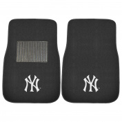 FANMATS 10740 MLB New York Yankees 2-Piece Embroidered Car Mat