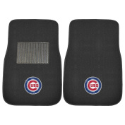 FANMATS 10742 MLB Chicago Cubs 2-Piece Embroidered Car Mat