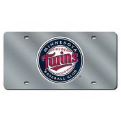 Minnesota Twins Silver Laser Cut Licence Plate