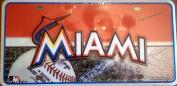 Miami Marlins 6501 Aluminium Metal Tag Licence Plate MLB Babseball