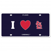 MLB St. Louis Cardinals Styrene Plate- I Heart Style