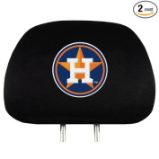 Houston Astros NEW LOGO 2-pack Black Auto Head Rest Covers Cover Baseball