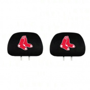 Pair of MLB Car Headrest Covers - Boston Red Sox