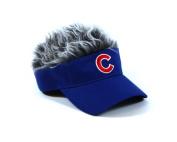 MLB Chicago Cubs Flair Hair Adjustable Visor, Blue