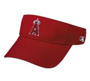 MLB ADULT Los Angeles ANGELS Home RED VISOR Adjustable Hook and loop TWILL