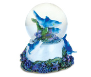 Puzzled Underwater Nirvana Snow globe (65mm) Handcrafted Table Top Resin Snow Globe Decoration - Ocean / Sea Life Theme - Unique Elegant Gift and Souvenir - Item #9153