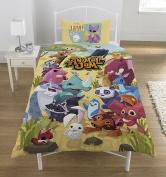 Animal Jam single Duvet Set, multicolour