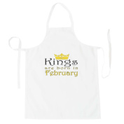 Kings are born in February Apron z88b
