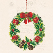 Ambiente Paper Napkins Lunch / Party Appro. 33x33cm Christmas Wreath