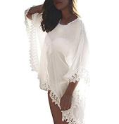 Gankarii - Beach Cover Up Womens Loose Beachwear Swimwear Bikini Cover-up Beach Dress