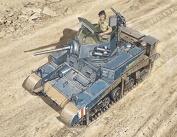 Italeri Model Kit - M3/M3A1 Stuart Tank - 1:56 Scale - 15761