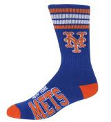 MLB 4 Stripe Deuce Crew Socks Mens-New York Mets-Size Large