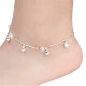 XILALU 5 Bells Women Chain Ankle Bracelet Barefoot Sandal Beach Foot Jewellery
