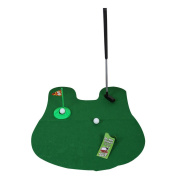 TTnight Golf Potty Putter Putting Game - A Whimsical Golfing Indoor Practise Mini Golf Gag Gift Set - Kids Men Funny Novelty Toy Training Accessory Aid for Any Toilet - 1 Set