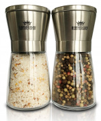 Salt and Pepper Mill Set   Design Salt and Pepper Mill Stainless Steel with Ceramic Grinder