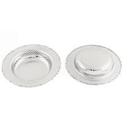 sourcingmap® Basin Sink Strainer Drainer Drain Cover Filter Stopper 11cm Dia 2pcs