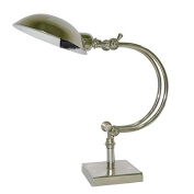 Better & best-lámpara of Office Table, with Screen, With Curved Arm, Silver