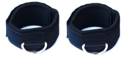 Neoprene Padded Small Hook and loop Ankle Strap For Multi Gym Cable Attachments, S Size 1 Pair
