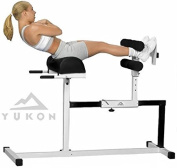 Yukon Glute, Hamstring, Back, and Abs Hyperextension Bench. GHD Exercise and Crossfit Machine.