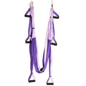 YOGABODY Naturals Yoga Trapeze -Yoga Swing/Sling/Inversion Tool, Purple