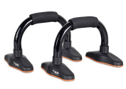 Pushup Stand - Best exercise total workout equipment for men and women. Made with well constructed tubular steel with comfortable foam grips. Lightweight, portable and very durable for that perfect push up guarantee. No home gym, total gym, p90x or T25 ..