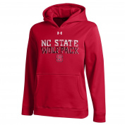 NCAA North Carolina State Wolfpack Youth Armour Fleece Hooded Sweatshirt, Red, Small