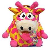 20cm - Tummy Stuffers Neon Giraffe Plush Toy (mini) Wild Ones!