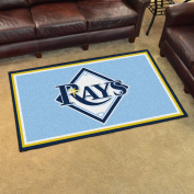Fanmats Home Indoor sports Team Logo Mat Tampa Bay Rays 4x 6 Rug