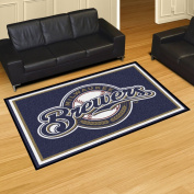 Fanmats Milwaukee Brewers Nylon Carpet Rug 5x 8 150cm x 230cm