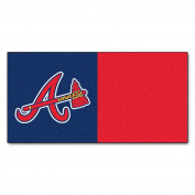 FANMATS MLB Atlanta Braves Nylon Face Team Carpet Tiles