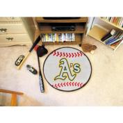 Fanmats Sports Team Logo MLB - Oakland Athletics Baseball Mat